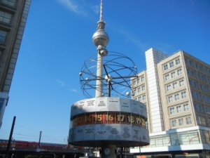 TV Tower and World Time Clock