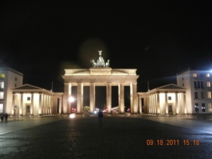 Nightime Brandenburger Tor